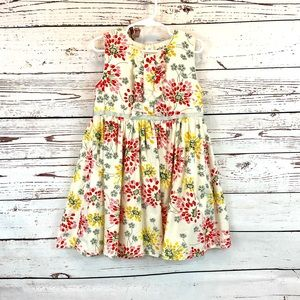Mini Boden Mini Floral Print Dress with Ruffle Front